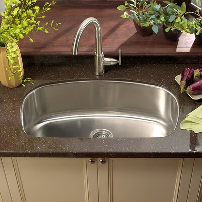Medallion Designer 32.44 x 18.44 Undermount Large Single Bowl Kitchen Sink