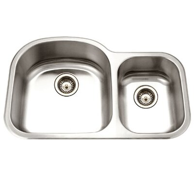 Medallion Designer 32.5 x 20.69 Undermount Double Bowl 70/30 Kitchen Sink