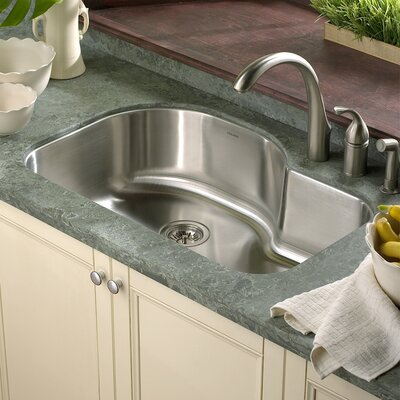 Medallion Designer 31.5 x 17.94 - 21 Undermount Offset Single Bowl Kitchen Sink