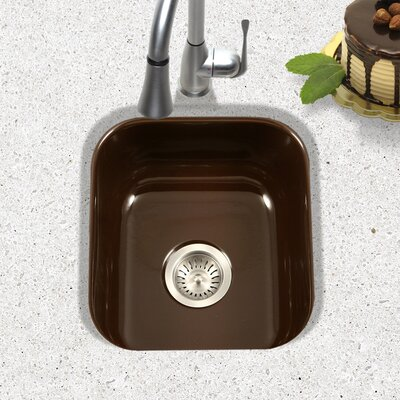 Porcela 15.59 x 17.32 Porcelain Enamel Steel Undermount Bar Sink Finish: Espresso