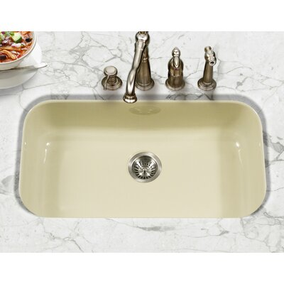 Porcela 30.9 x 17.32  Porcelain Enamel Steel Gourmet Undermount Single Kitchen Sink Finish: Biscuit