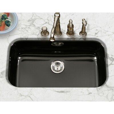 Porcela 30.9 x 17.32  Porcelain Enamel Steel Gourmet Undermount Single Kitchen Sink Finish: Black
