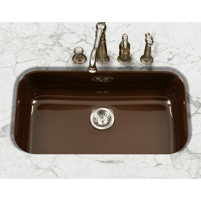 Porcela 30.9 x 17.32  Porcelain Enamel Steel Gourmet Undermount Single Kitchen Sink Finish: Espresso
