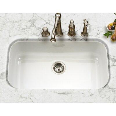 Porcela 30.9 x 17.32  Porcelain Enamel Steel Gourmet Undermount Single Kitchen Sink Finish: White