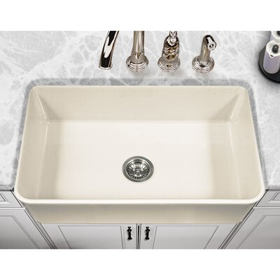 Platus 33 x 20 Apron Front Fire Clay SIngle Kitchen Sink Color: Biscuit