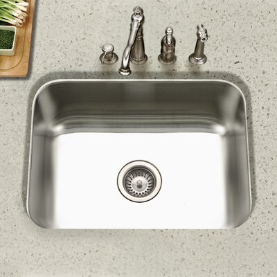 Eston 23 x 17.75 Undermount Rectangular Single Bowl Kitchen Sink