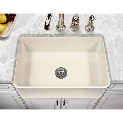 Platus 30 x 20 Apron Front Fire Clay SIngle Kitchen Sink Finish: Biscuit