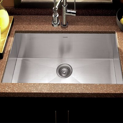 Contempo 32 x 18 Zero Radius Undermount Large Single Bowl Kitchen Sink