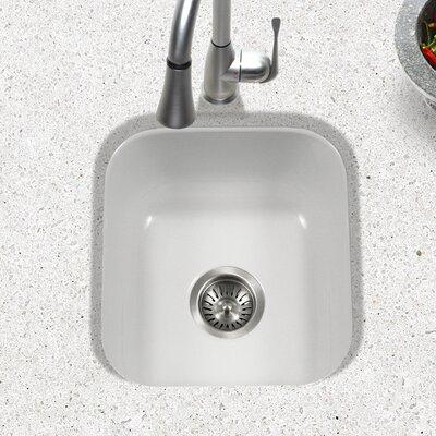 Porcela 15.59 x 17.32 Porcelain Enamel Steel Undermount Bar Sink Finish: White