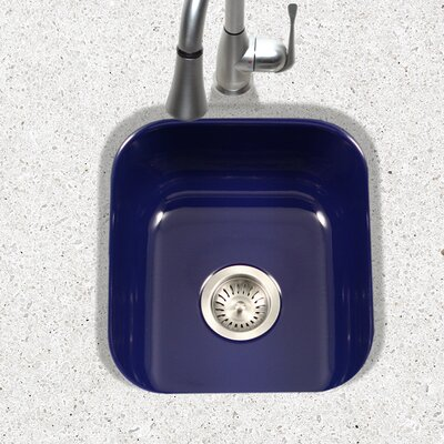 Porcela 15.59 x 17.32 Porcelain Enamel Steel Undermount Bar Sink Finish: Navy Blue