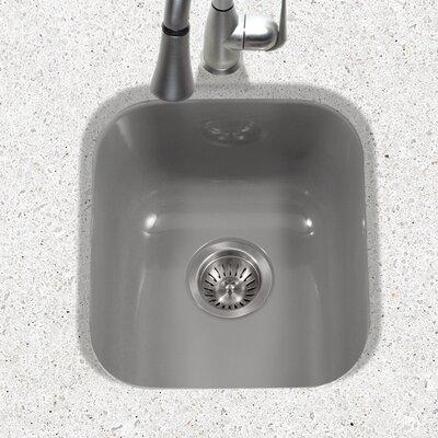 Porcela 15.59 x 17.32 Porcelain Enamel Steel Undermount Bar Sink Finish: Slate