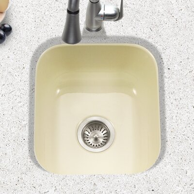 Porcela 15.59 x 17.32 Porcelain Enamel Steel Undermount Bar Sink Finish: Biscuit