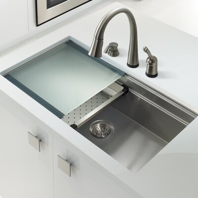 Novus 31.56 x 17.81 Kitchen Sink