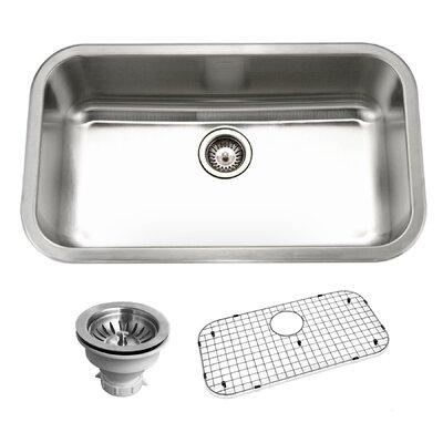 Belleo 32.38 x 18.88 Topmount Single Bowl Kitchen Sink