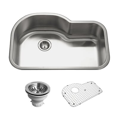 Belleo 31.5 x 21 Topmount Offset Bowl Kitchen Sink