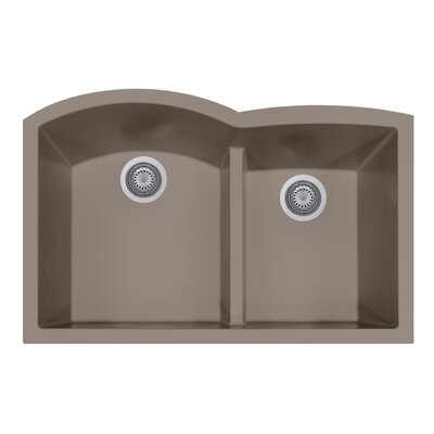 Quartztone 33 x 20.75  Granite Kitchen Sink Finish: Taupe
