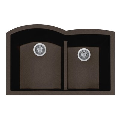 Quartztone 33 x 20.75  Granite Kitchen Sink Finish: Mocha