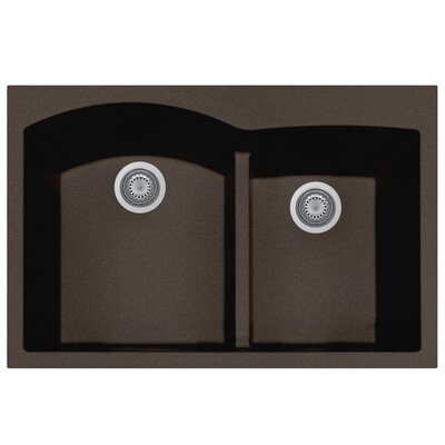 Quartztone 33 x 22  Granite Kitchen Sink Finish: Mocha
