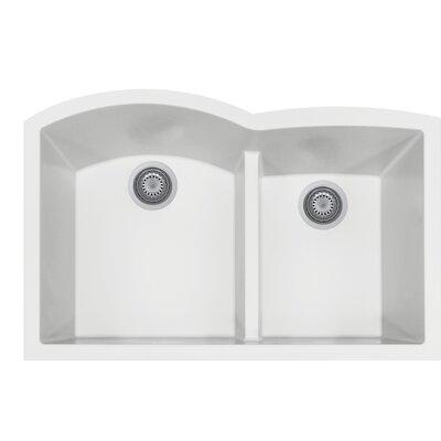 Quartztone 33 x 20.75  Granite Kitchen Sink Finish: Cloud