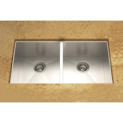 Contempo 33 x 18 Zero Radius Undermount Double Bowl 50/50 Kitchen Sink