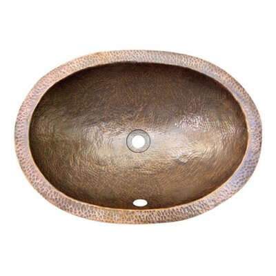 Hammerwerks Flat Lip Ellipse Oval Undermount Bathroom Sink with Overflow Sink Finish: Copper