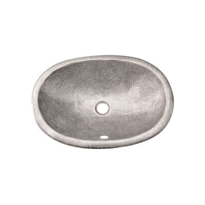 Hammerwerks Ellipse Self Rimming Bathroom Sink Sink Finish: Pewter