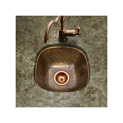 Hammerwerks 17.88 x 17.88 Flat Lip Bar/Prep Sink Finish: Copper