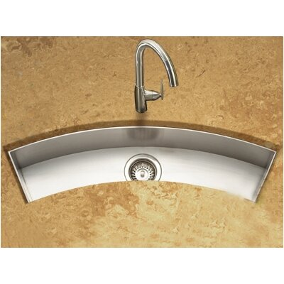 Contempo 33 x 11.5 Zero Radius Undermount Curved Trough Bar Sink