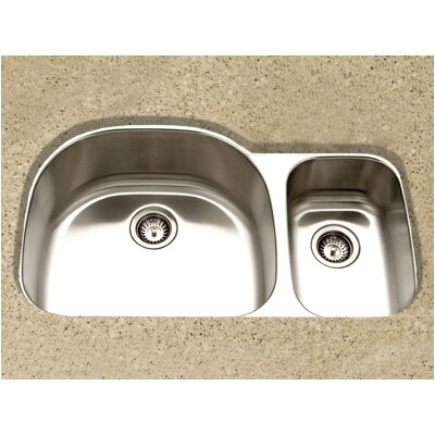 Medallion Designer 35.25 x 17.88 - 20.88 Undermount Large Double Bowl Kitchen Sink