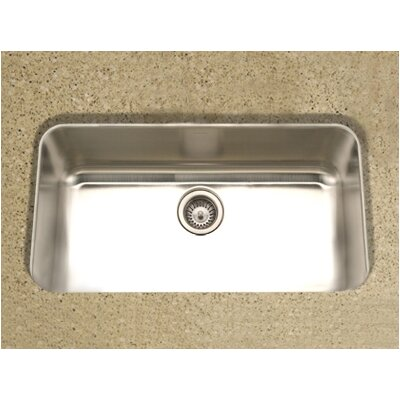 Medallion Gourmet Undermount Single Bowl Kitchen Sink in Satin