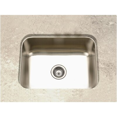 Elite Undermount Single Bowl Kitchen Sink in Satin