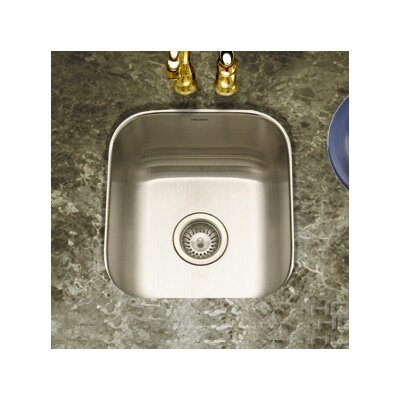Club Undermount Square Bar/Prep Sink in Satin