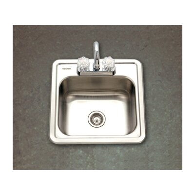 Hospitality Topmount 24 Gauge Bar Sink in Satin