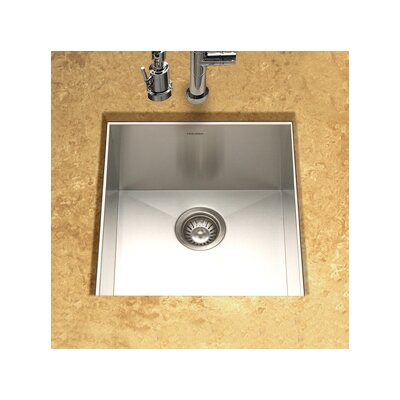 Contempo Zero Radius Undermount Prep Kitchen Sink in Brushed Satin