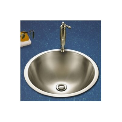 Club Metal Circular Undermount Bathroom Sink with Overflow