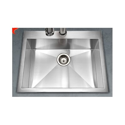 Bellus 25 x 22 Zero Radius Topmount Single Bowl Kitchen Sink