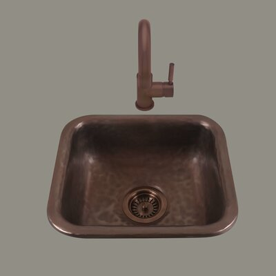 Zeus 14  x 6.75 Drop-In Kitchen Sink Finish: Mayan Z Pewter