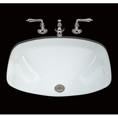 Loretta Ceramic Rectangular Undermount Bathroom Sink with Overflow Sink Finish: White