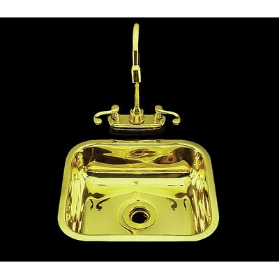 Sculptured Metal 11.25 x 4 Kitchen Sink Finish: Satin Brass