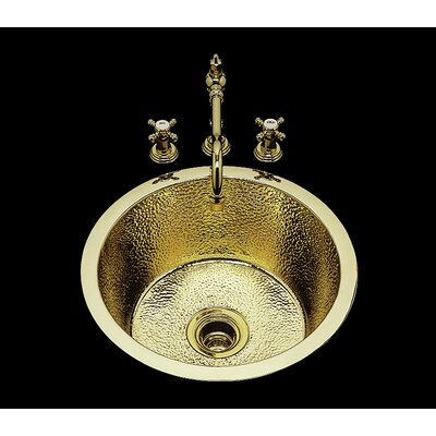 Sculptured Metal 17.25 x 7.25 Kitchen Sink Finish: Old Brass