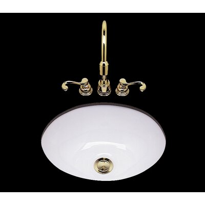 Teri Ceramic Circular Drop-In Bathroom Sink Sink Finish: Weathered Brass