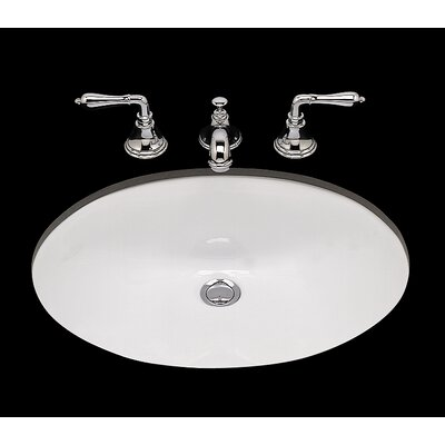Doreen Ceramic Oval Undermount Bathroom Sink with Overflow Sink Finish: White