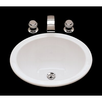 Suzanne Ceramic Circular Drop-In Bathroom Sink with Overflow Sink Finish: Weathered Brass