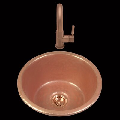 Zara 17.5  x 8.5 Drop-In Kitchen Sink Finish: Mayan Z Copper