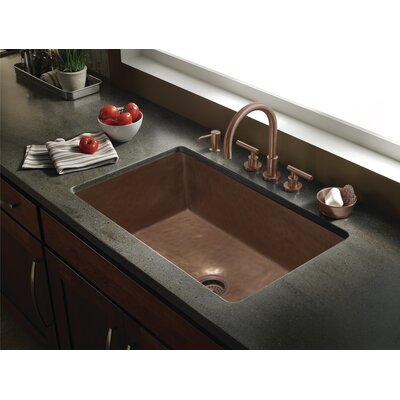 Zarina 18.5  x 10 Kitchen Sink Finish: Mayan Z Bronze