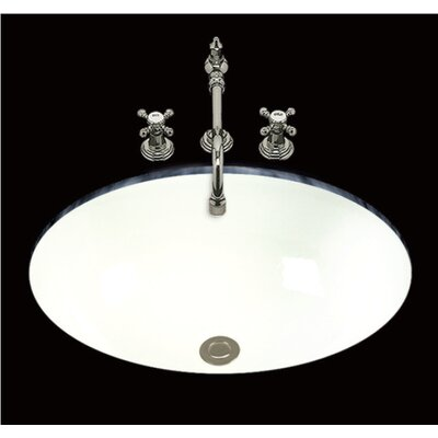 Georgia Glazed Oval Undermount Bathroom Sink with Overflow Sink Finish: White