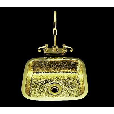 11.25  x 4 Sculptured Metal Kitchen Sink Finish: Nickel Silver