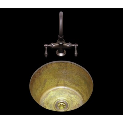 14.75  x 7 Sculptured Metal Kitchen Sink Finish: Polished Brass