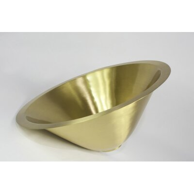 Metal Circular Undermount Bathroom Sink Sink Finish: Satin Brass
