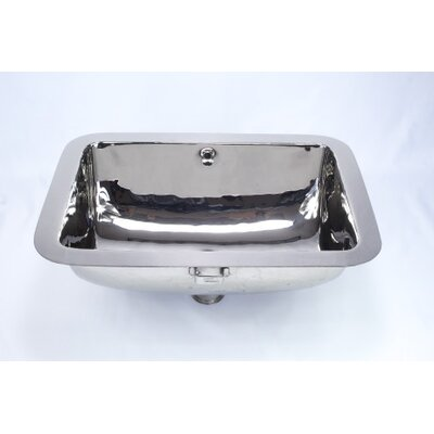 Metal Rectangular Undermount Bathroom Sink with Overflow Sink Finish: Nickel Silver